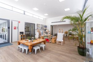 inside the nido child care centre at Bassendean