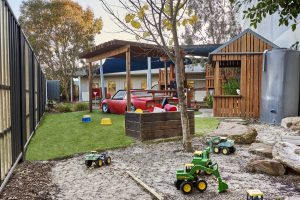 outside kids playing area image of nido child care centre at dandenong south