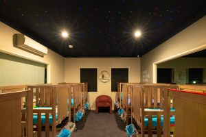 night view of nido child care centre at golden grove