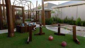 playground view of nido child care centre in southern river