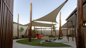 outside open sky view of nido child care centre in southern river