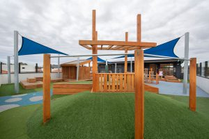 playing outside area view of nido child care centre at altona meadows