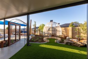 green grass ground view from nido child care centre at baldivis east