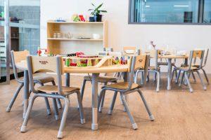 children playing area of nido child care centre in perth (QV1)