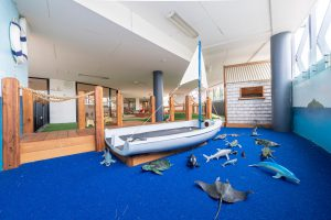 activity room for children of nido child care centre in port melbourne