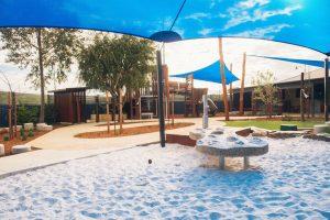 a playground view of nido child care centre