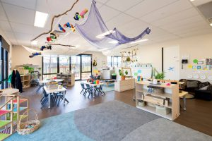 interior view of nido child care centre at gregory hills