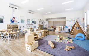 children playing area of nido child care centre at banksia grove