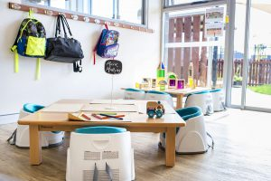 sitting area for kids in nido child care centre at banksia grove