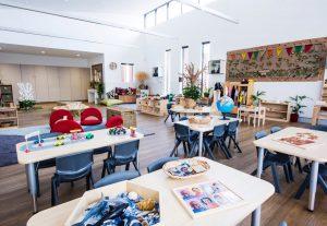 classroom view of nido child care centre at beeliar village