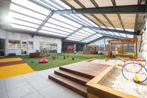 outside playing area for kids of nido child care centre in shepparton