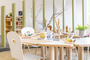 interior furniture view of nido child care centre at bayswater north