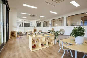 playing area inside view of nido child care centre at ascot vale