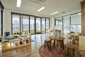 waiting area view of nido child care centre at ascot vale