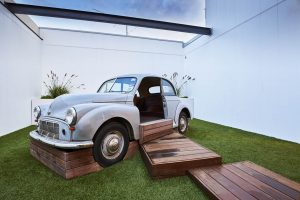 design of a car inside the nido early child care centre at ascot vale