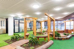 interior gardern view of nido child care centre at melbourne Square