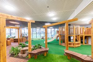beautiful gardern view of nido child care centre at melbourne Square